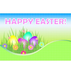 easter colorful background vector image