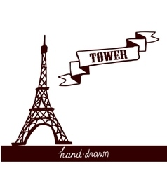 Eiffel Tower sketch vector image vector image