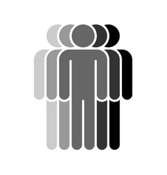 five human sign people symbol vector image