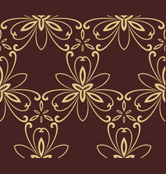 floral fine seamless pattern vector image vector image