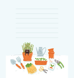 garden tools template vector image