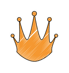 Golden king crown vector