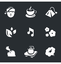 Icons set of tea ceremony vector