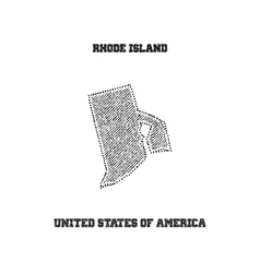 Label with map of rhode island vector