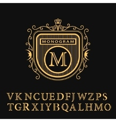 Monogram design elements english letters vector