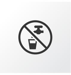 Non potable water icon symbol premium quality vector