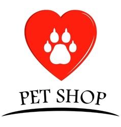 Pet shop symbol vector
