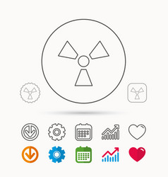 Radiation icon radiology sign vector