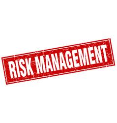 Risk management square stamp vector