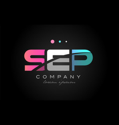 sep s e p three letter logo icon design vector image vector image