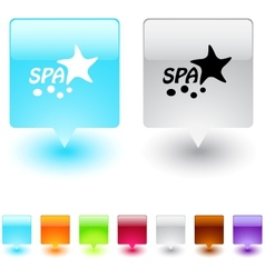 spa square button vector image vector image