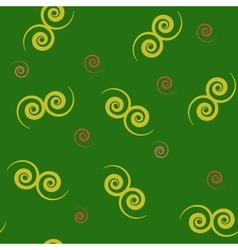 Spiral yellow seamless pattern vector image