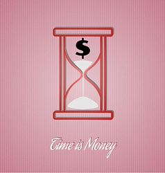 Time is money wit sand glass vector