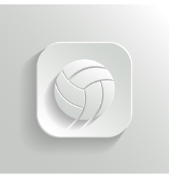 Volleyball icon - white app button vector image vector image