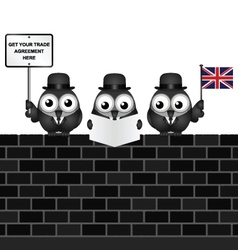 Comical united kingdom trade delegation vector