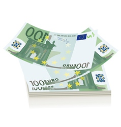 Flying euro bills vector