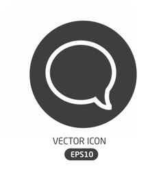 Message bubble icon vector