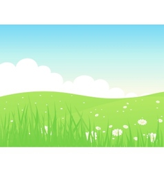 Beautiful green fields landscape vector image