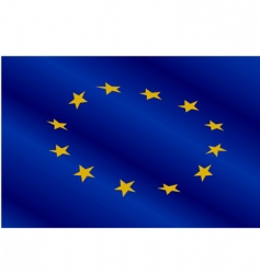 Flag of europe union vector
