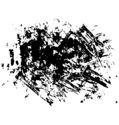 Set of black paint dirty brush strokes vector