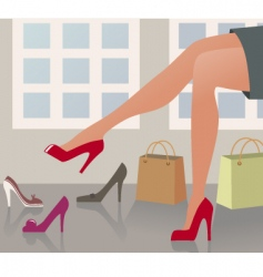 Shopping shoes vector