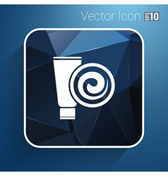 Blue long clean tube of cream version vector