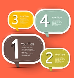 Four steps infographic layout - template in retro vector