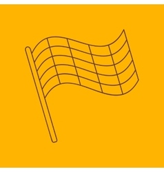 Flag line icon vector