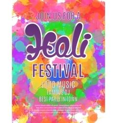 Holi festival poster template vector