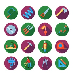 Carpentry icons set vector