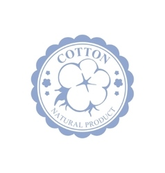 Cotton blue product logo design vector