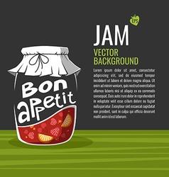 Bon Appetit Jam Jar Drawing vector image