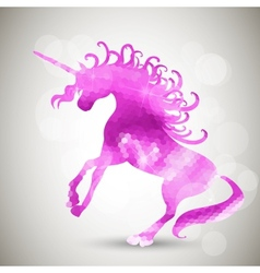 Abstract geometric background with unicorn vector image