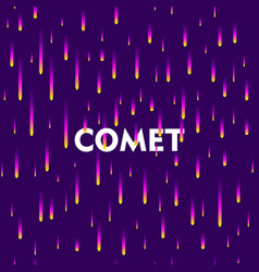Abstract gradient falling comets vector