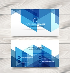 Abstract style blue business card template design vector