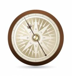 antique compass illustration vector image vector image