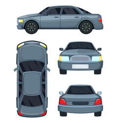 automobile top side front vector image vector image