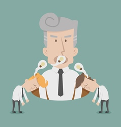 Businessman lose idea vector image vector image