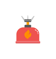 camping stove furnace travel tourist heater icon vector image vector image
