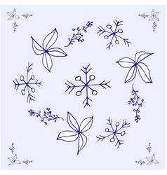 christmas decoration color on vector image