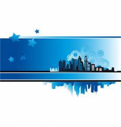 cityscape urban background vector image vector image