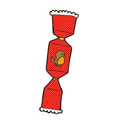 Comic cartoon christmas cracker vector