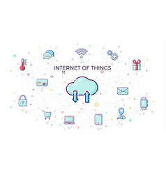 Concept internet of things cloud network concept vector
