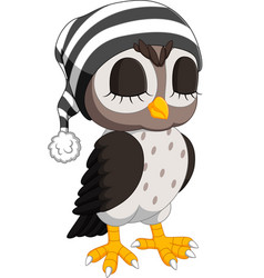 cute owl cartoon vector image vector image