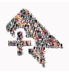 group people shape tag vector image vector image