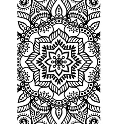 Indian mandala background vector