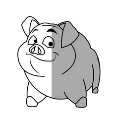 Isolated pork cartoon design vector