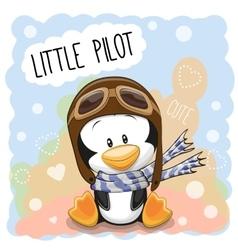 Little penguin pilot vector