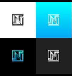 logo n linear logo of the letter n vector image vector image