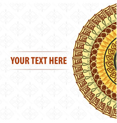 mandala pattern on a white background vector image vector image